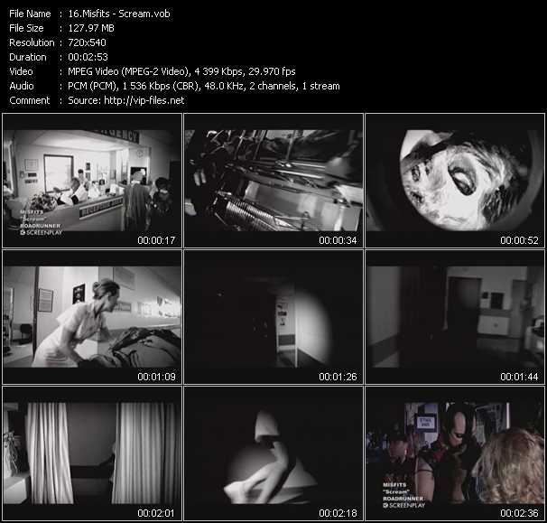 download Misfits « Scream » video vob