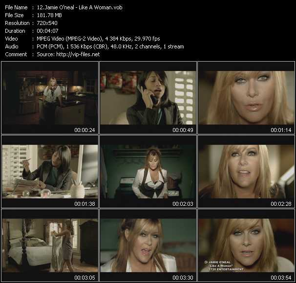 download Jamie O'Neal « Like A Woman » video vob
