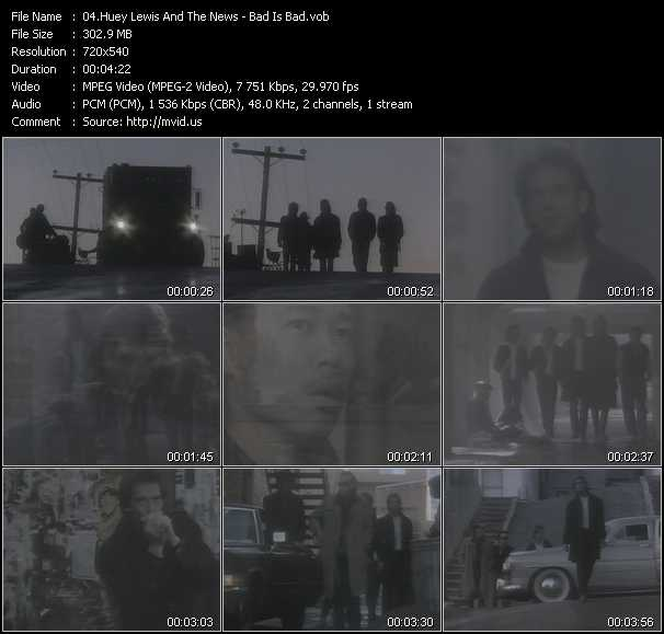 download Huey Lewis And The News « Bad Is Bad » video vob