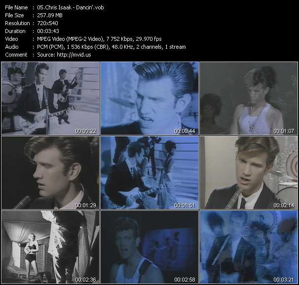 download Chris Isaak « Dancin' » video vob
