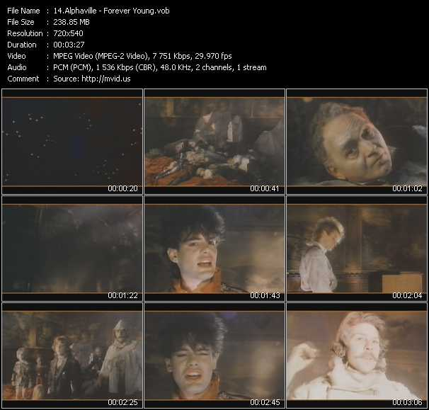 download Alphaville « Forever Young » video vob