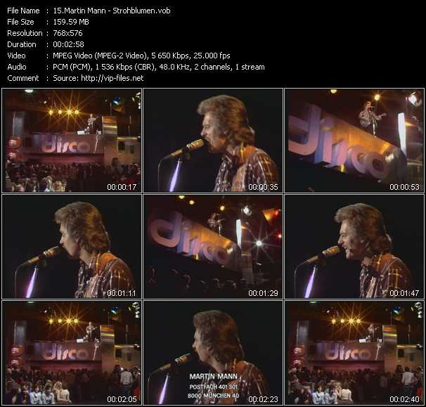 download Martin Mann « Strohblumen » video vob