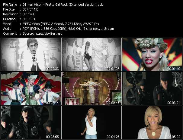 download Keri Hilson « Pretty Girl Rock (Extended Version) » video vob