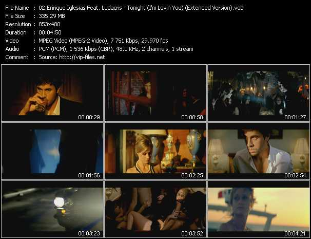 download Enrique Iglesias Feat. Ludacris « Tonight (I'm Lovin You) (Extended Version) » video vob