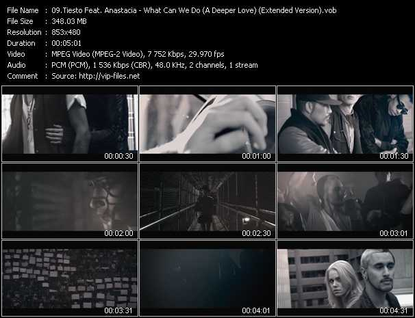 download Tiesto Feat. Anastacia « What Can We Do (A Deeper Love) (Extended Version) » video vob