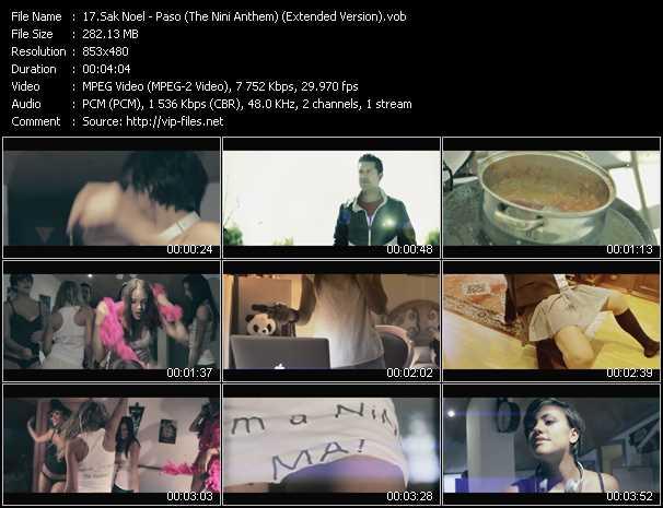 download Sak Noel « Paso (The Nini Anthem) (Extended Version) » video vob