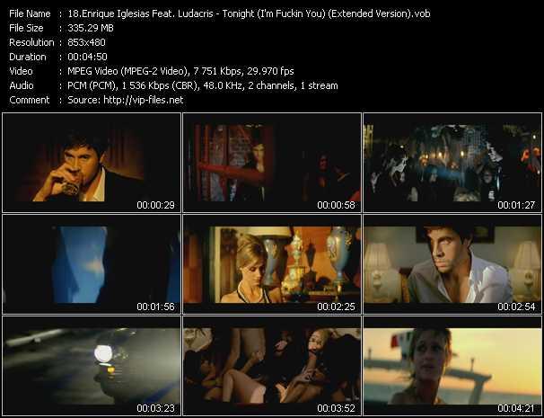 download Enrique Iglesias Feat. Ludacris « Tonight (I'm Fuckin You) (Extended Version) » video vob