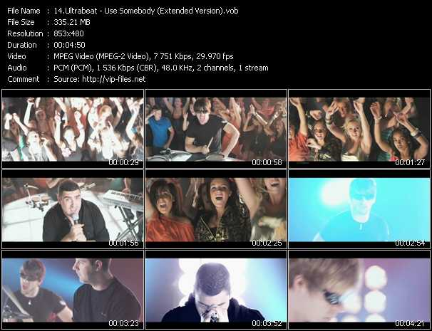 download Ultrabeat « Use Somebody (Extended Version) » video vob