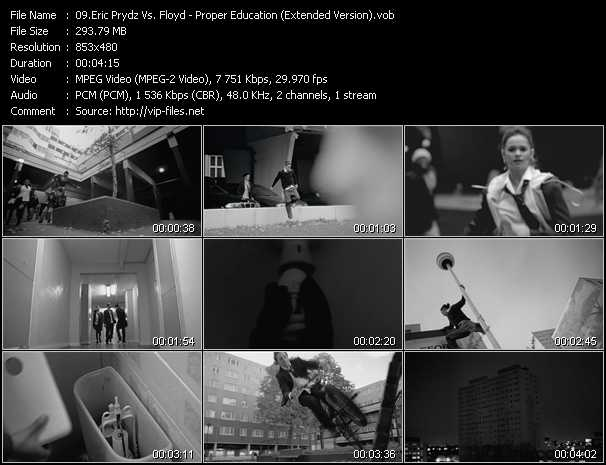 download Eric Prydz Vs. Pink Floyd « Proper Education (Extended Version) » video vob