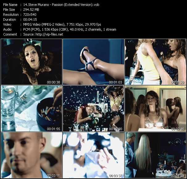 download Steve Murano « Passion (Extended Version) » video vob