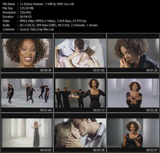 download Donna Summer « I Will Go With You » video vob