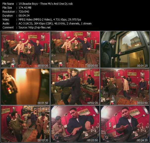 download Beastie Boys « Three Mc's And One Dj » video vob