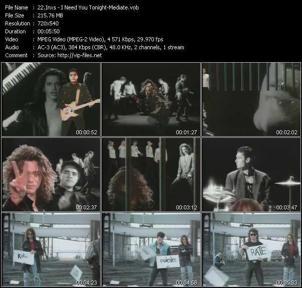 video Need You Tonight - Mediate screen