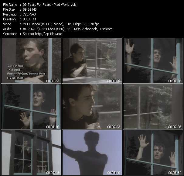 video Mad World screen