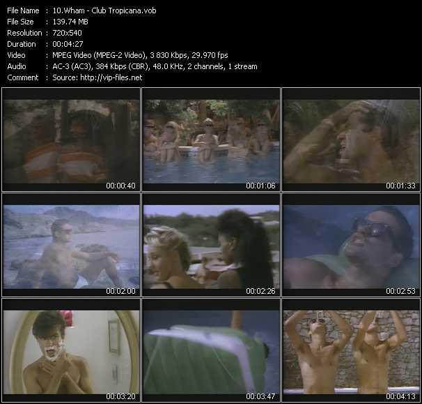 download Wham! « Club Tropicana » video vob