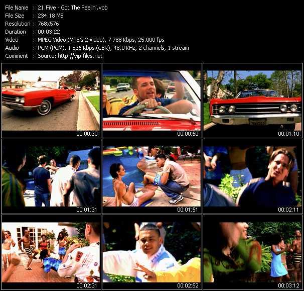 download Five « Got The Feelin' » video vob