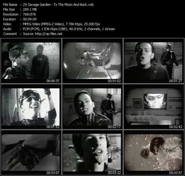 download Savage Garden « To The Moon And Back » video vob