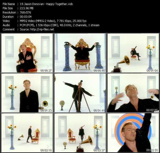 download Jason Donovan « Happy Together » video vob