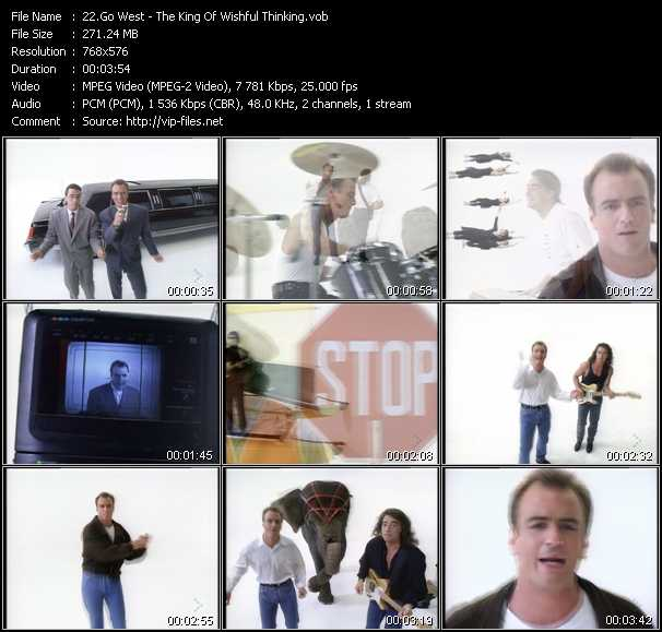 download Go West « The King Of Wishful Thinking » video vob