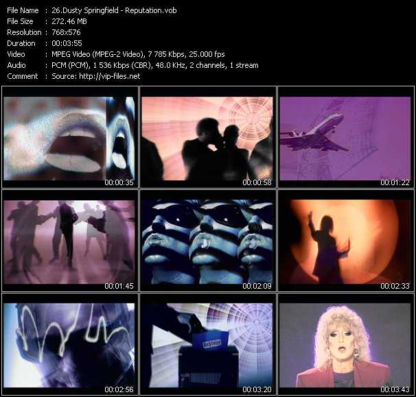download Dusty Springfield « Reputation » video vob