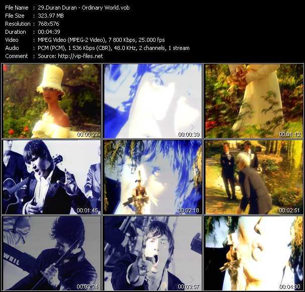 download Duran Duran « Ordinary World » video vob