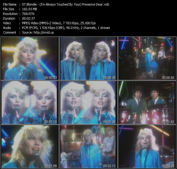 download Blondie « (I'm Always Touched By Your) Presence Dear » video vob