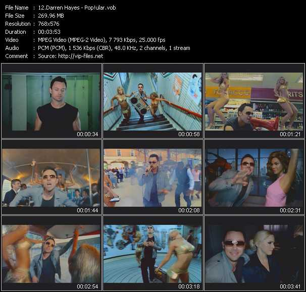 download Darren Hayes « Pop!ular » video vob