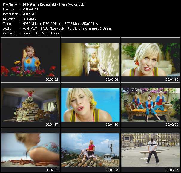 download Natasha Bedingfield « These Words » video vob