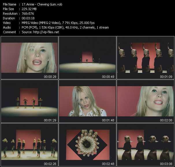 download Annie « Chewing Gum » video vob
