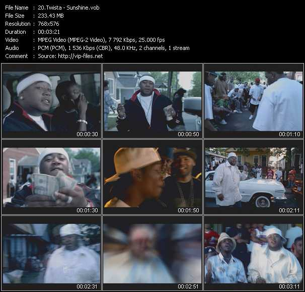 download Twista « Sunshine » video vob