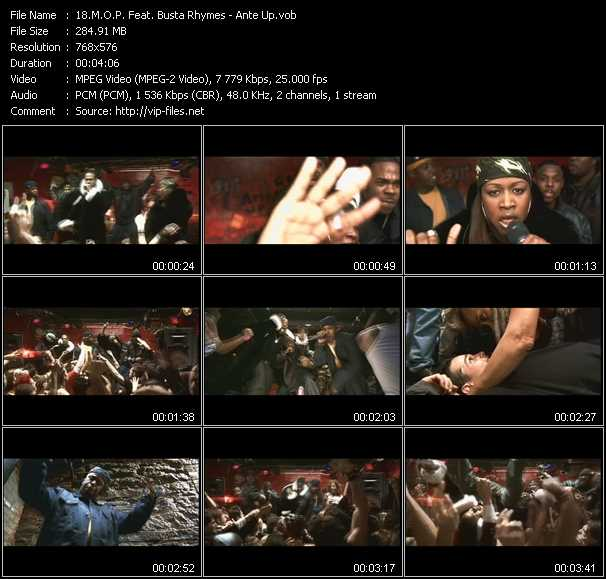 download M.O.P. Feat. Busta Rhymes « Ante Up » video vob