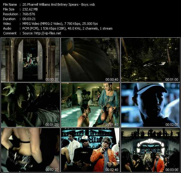 download Pharrell Williams And Britney Spears « Boys » video vob