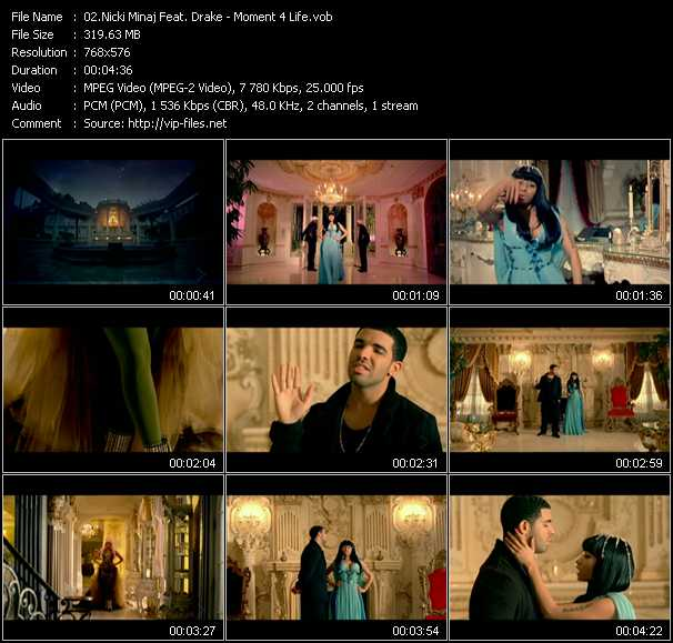 download Nicki Minaj Feat. Drake « Moment 4 Life » video vob