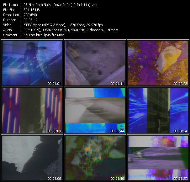 download Nine Inch Nails « Down In It (12 Inch Mix) » video vob