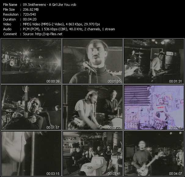 download Smithereens « A Girl Like You » video vob