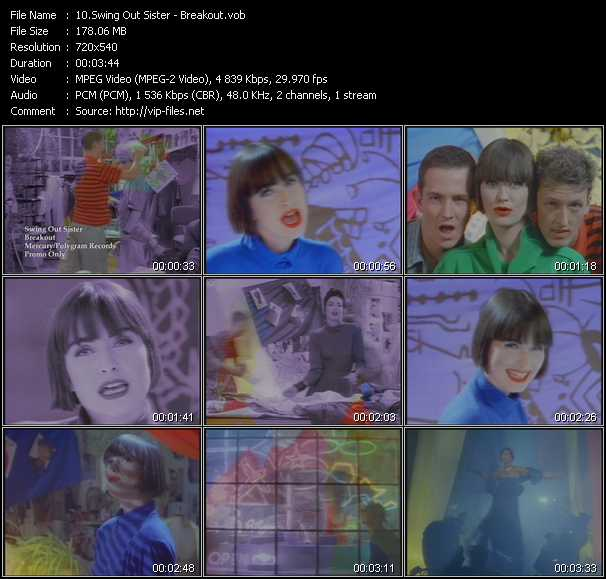 download Swing Out Sister « Breakout » video vob