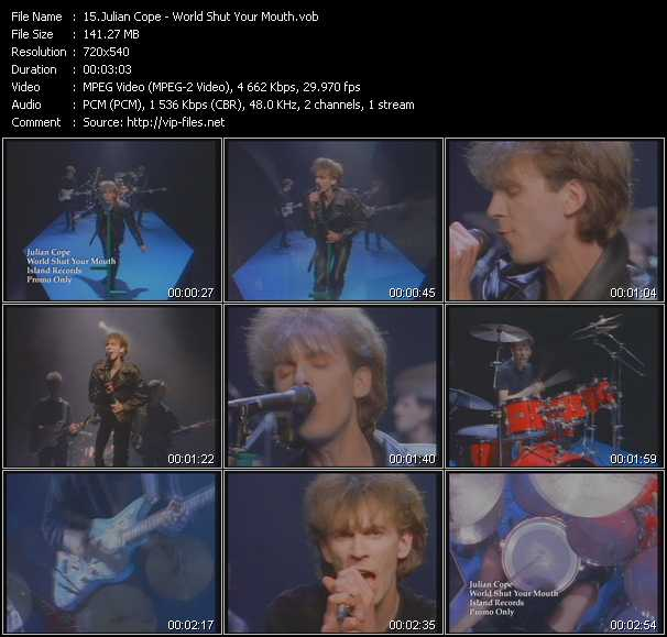 download Julian Cope « World Shut Your Mouth » video vob