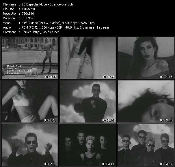download Depeche Mode « Strangelove » video vob