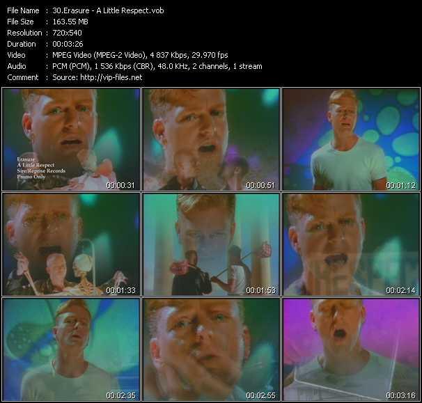 download Erasure « A Little Respect » video vob