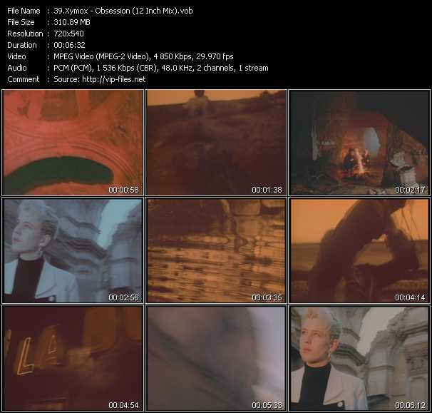 download Xymox « Obsession (12 Inch Mix) » video vob