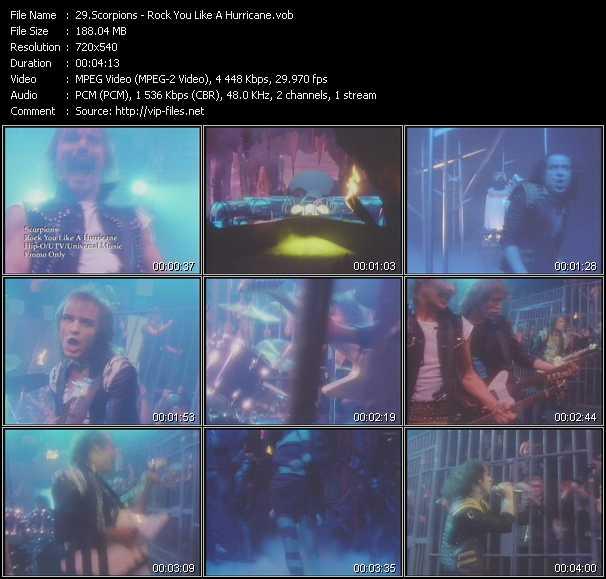 video Rock You Like A Hurricane screen