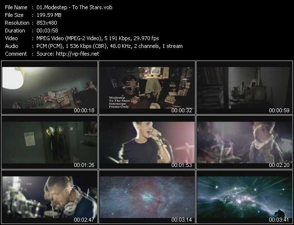 download Modestep « To The Stars » video vob