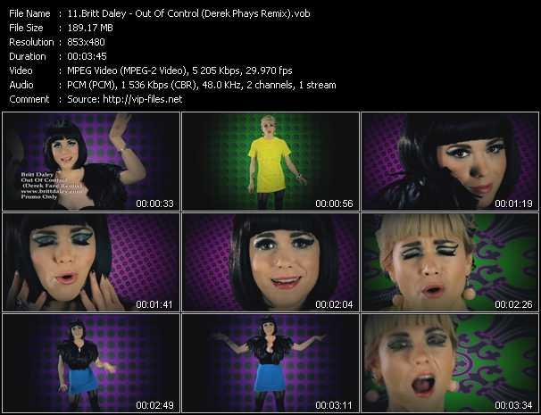 download Britt Daley « Out Of Control (Derek Phays Remix) » video vob