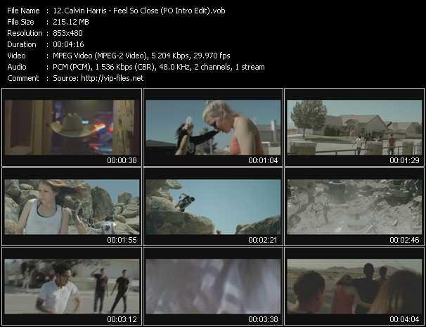download Calvin Harris « Feel So Close (PO Intro Edit) » video vob