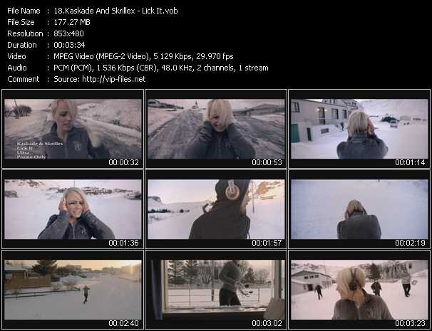 download Kaskade And Skrillex « Lick It » video vob