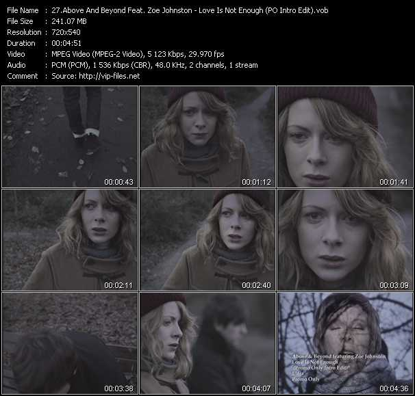 download Above And Beyond Feat. Zoe Johnston « Love Is Not Enough (PO Intro Edit) » video vob