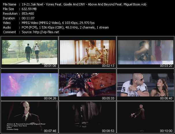 download Sak Noel - Yones Feat. Giselle And DNY - Above And Beyond Feat. Miguel Bose « Paso (The Nini Anthem) - My Life - Sea Lo Que Sea Sera » video vob