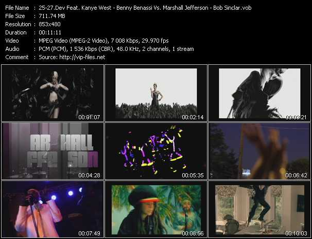 download Dev Feat. Kanye West - Benny Benassi Vs. Marshall Jefferson - Bob Sinclar « In The Dark (PO Intro Edit) - Move Your Body 2012 - Rock This Party (Everybody Dance Now) » video vob