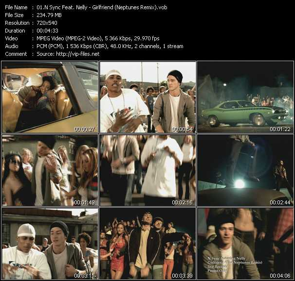 download N'Sync Feat. Nelly « Girlfriend (Neptunes Remix) » video vob