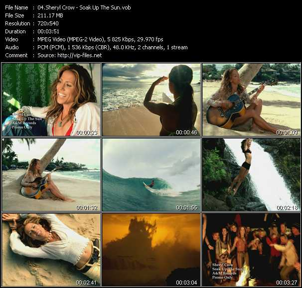 download Sheryl Crow « Soak Up The Sun » video vob